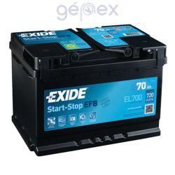 Exide ECM 70Ah 630A J+