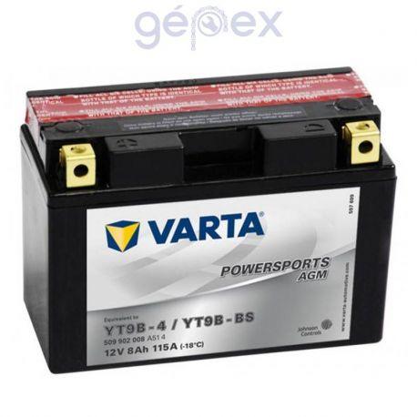 Varta Powersports AGM 12V 8Ah B+ YT9B-BS