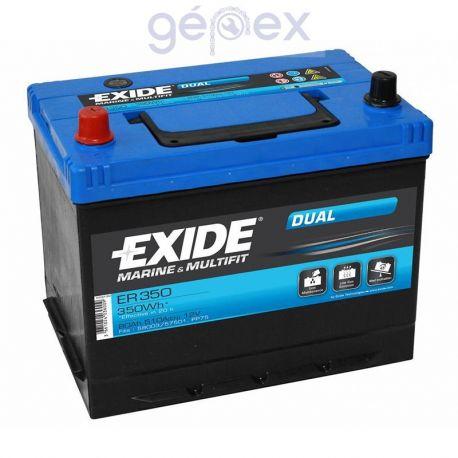 Exide ER350 DUAL 12V 80Ah 350Wh munkaakku és indítóakku
