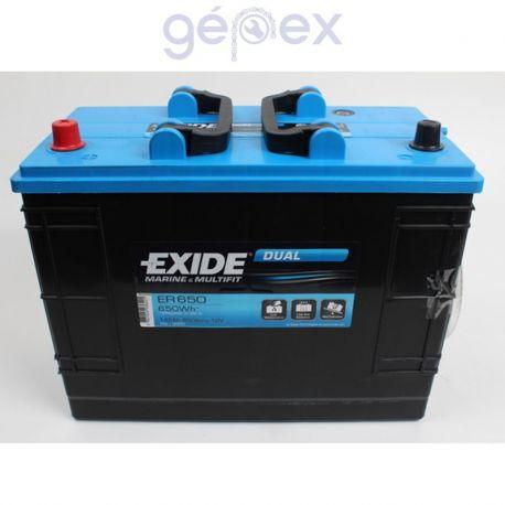 Exide ER650 DUAL 12V 135Ah 650Wh munkaakku és indítóakku