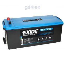 Exide EP1200 DUAL AGM 12V 140Ah 1200Wh munkaakku és indítóakku