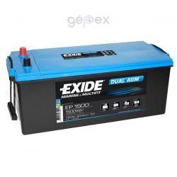Exide EP1500 DUAL AGM 12V 180Ah 1500Wh munkaakku és indítóakku