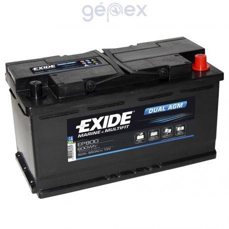 Exide EP800 DUAL AGM 12V 92Ah 800Wh 850A munkaakku és indítóakku