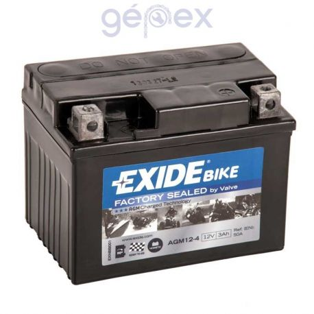 Exide AGM+SLA 12V 3Ah J+ YT4L-BS Factory Sealed