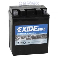 Exide AGM+SLA 12V 12Ah J+ YTX14AHL-BS Factory Sealed