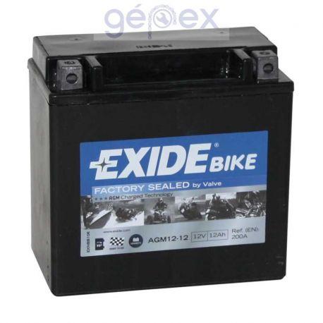 Exide AGM+SLA 12V 12Ah B+ YTX14-BS Factory Sealed