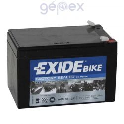 Exide AGM+SLA 12V 12Ah B+ Factory Sealed