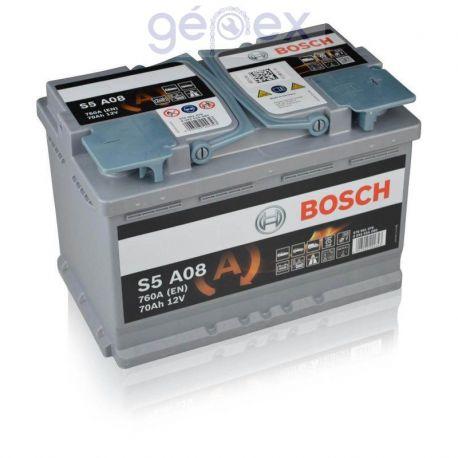 Bosch S5 AGM 70Ah 760A J+