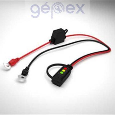 CTEK szemes töltő csatlakozó LED kijelzővel M6