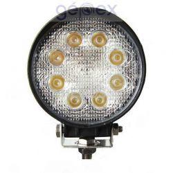 Munkalámpa LED kerek 24W 12/24V