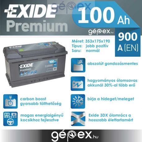 Exide Premium 100Ah 900A J+