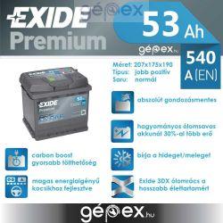Exide Premium 53Ah 540A J+