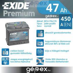 Exide Premium 47Ah 450A J+