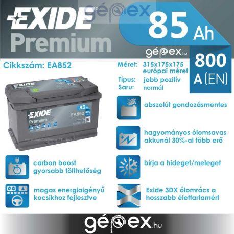 Exide Premium 85Ah 800A J+