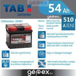 TAB Magic 54Ah 510A J+