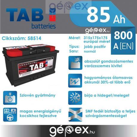 TAB Magic 85Ah 800A J+