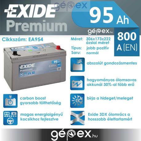 Exide Premium 95h 800A J+ japán