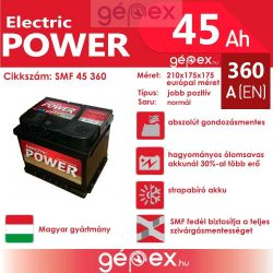 JP Electric Power 45Ah 360A J+ SMF
