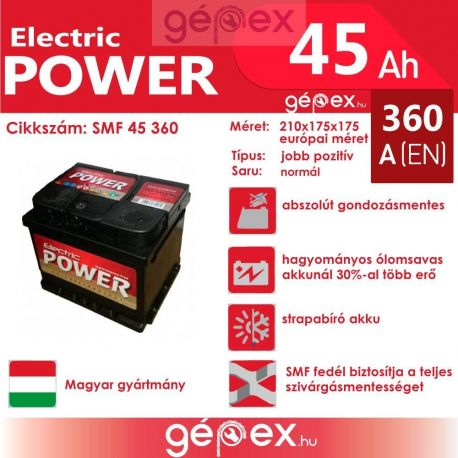 JP Electric Power 45Ah 360A SMF