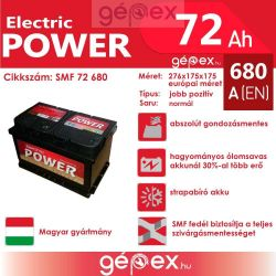 JP Electric Power 72Ah 680A J+ SMF