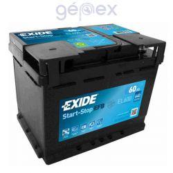 Exide EFB 60Ah 540A J+