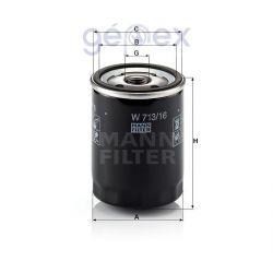 MANN-FILTER W713/16