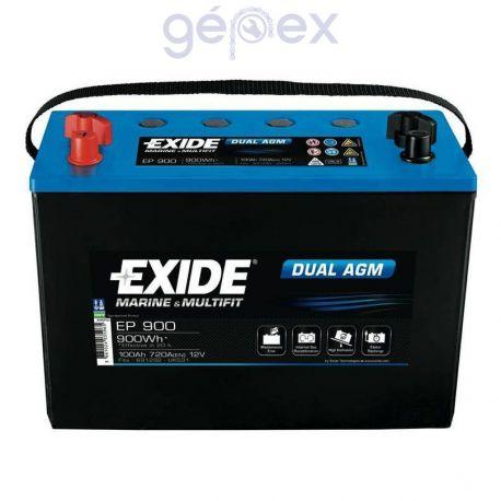 Exide EP900 DUAL AGM 12V 100Ah 900Wh munkaakku és indítóakku