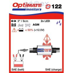 Tecmate/Accumate O-122 Állapot ellenőrző gondozásmentes akkumulátorokhoz