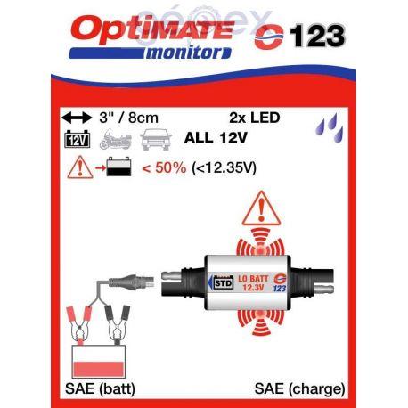 Tecmate/Accumate O-123 Állapot ellenőrző savas akkumulátorokhoz