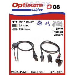 Tecmate/Accumate O-08 (SAE-78) 12V-s DIN aljzat