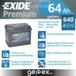 Exide Premium 64Ah 640A J+