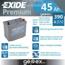 Exide Premium 45Ah 390A J+ japán