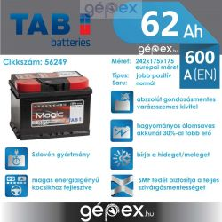 TAB Magic 62Ah 600A J+