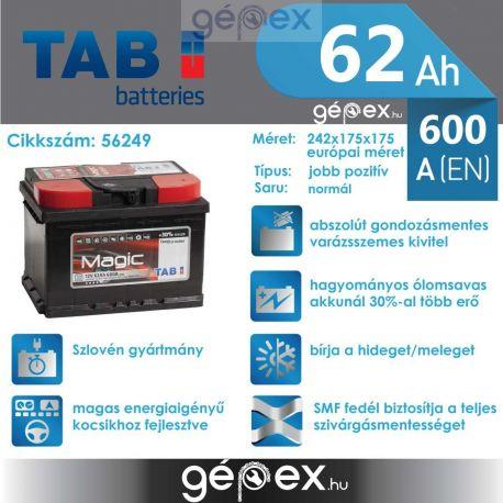 TAB Magic 62Ah 600A J+