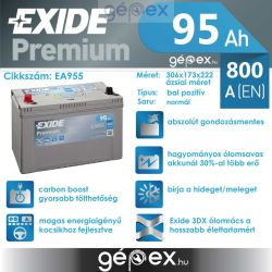 Exide Premium 95h 800A B+ japán